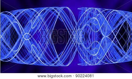 Cobweb whirls abstract bright symmetric swirl on the basis of the dark. Fractal art graphics