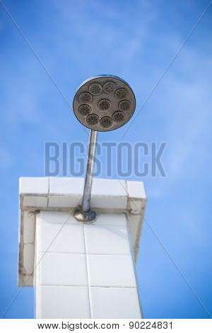 Shower Head Outside, No Water