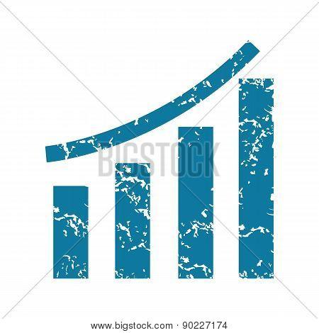 Grunge bar graph icon