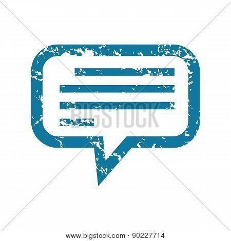 Grunge message icon