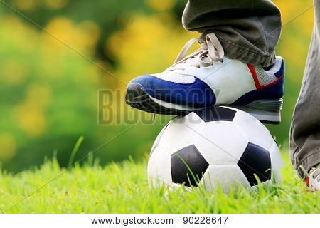 Foot  On Football