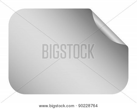 Vector Silver Blank Bent Sticker