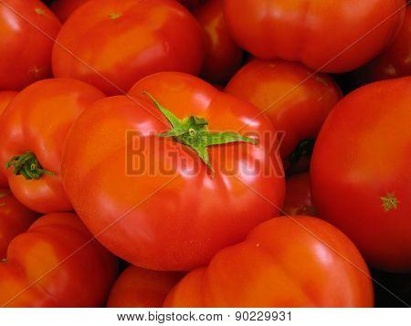 A big red tomato