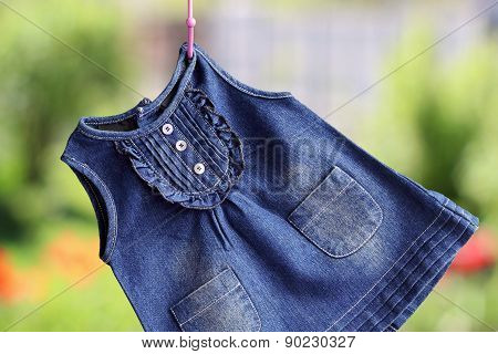Fashion Denim Baby Dress