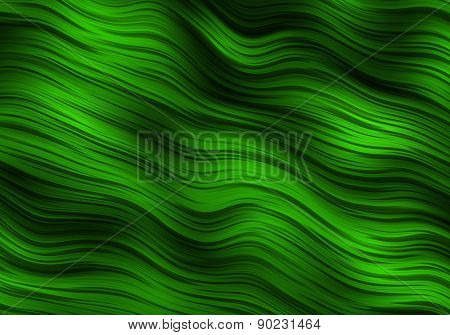 Green Ripples Abstract Background