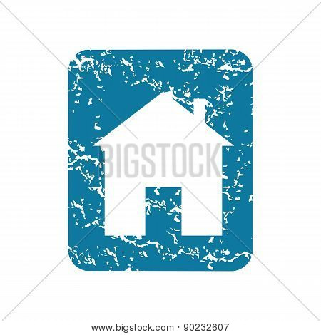 Grunge house sign icon