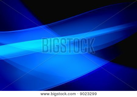 Abstract blue background wave veil or smoke texture - computer generated picture