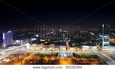 View Of The Center Of Warsaw