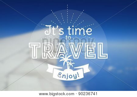 Vector Travel Card. Blurred Background.