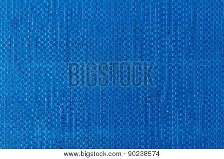 Blue Woven Plastic Cloth Texture