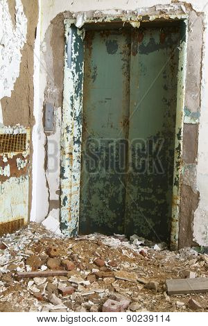 Elevator In Decaying Building