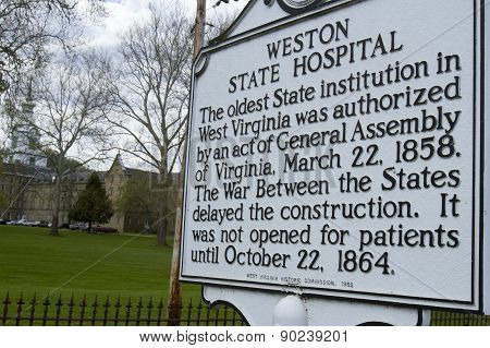 Weston State Hospital Sign