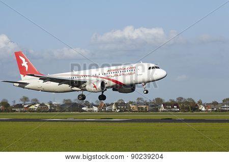 Amsterdam Airport Schiphol - A320 Of Air Arabia Maroc Lands