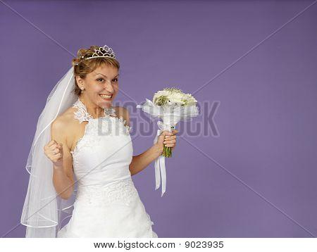 Sehr glücklich Braut