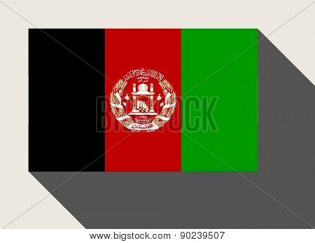 Afghanistan flag in flat web design style.