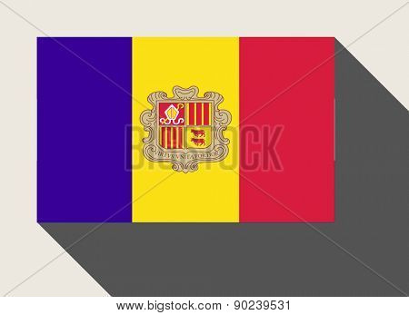 Andorra flag in flat web design style.
