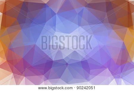 polygonal background.