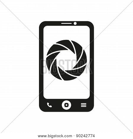 The Selfie Icon. Foto Symbol. Flat