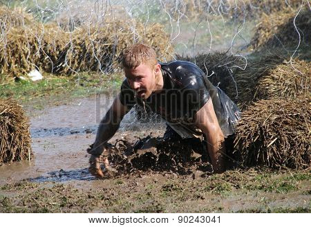 Man Falling In The Mud