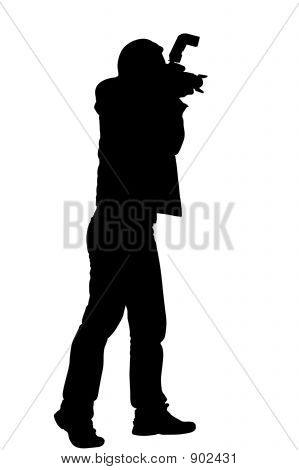 Silhouette Photographer With Clipping Path