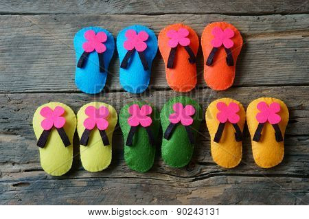 Life Is Colorful, Beautiful Life, Sandals Handmade