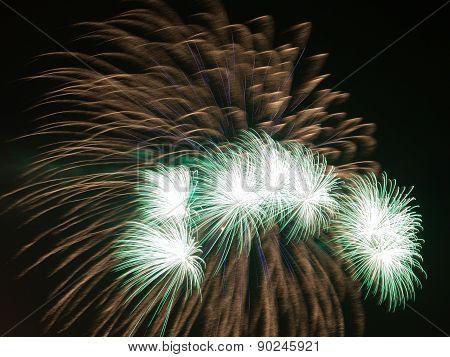 Bright Green Fireworks