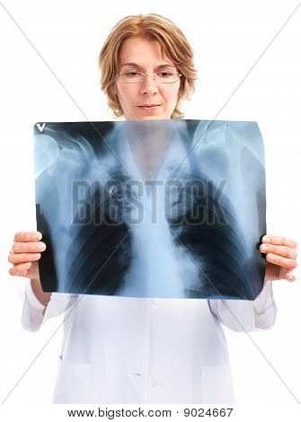 Medical Doctor With X-ray Image