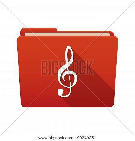 Folder Icon With A G Clef