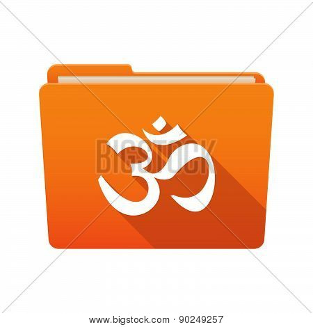 Folder Icon With An Om Sign