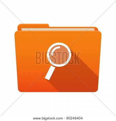 Folder Icon With A Magnifier