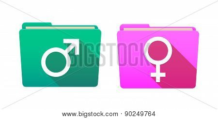 Folder Icon Set With Sexual Orientation Signs