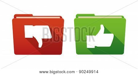 Folder Icon Set With Thumb Hands