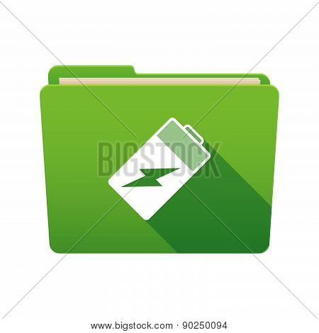 Folder Icon With A Battery