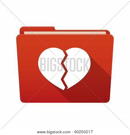 Folder Icon With A Heart