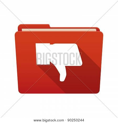 Folder Icon With A Thumb Down Hand