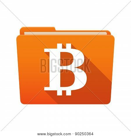 Folder Icon With A Bit Coin Sign