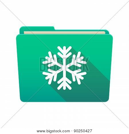 Folder Icon With A Snow Flake