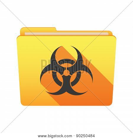 Folder Icon With A Bio Hazard Sign