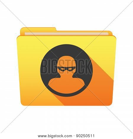 Folder Icon With A Thief