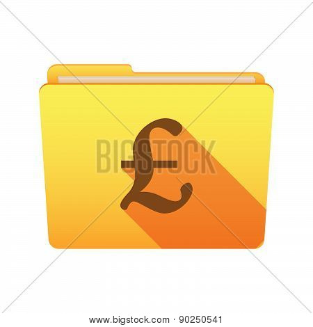 Folder Icon With A Pound Sign