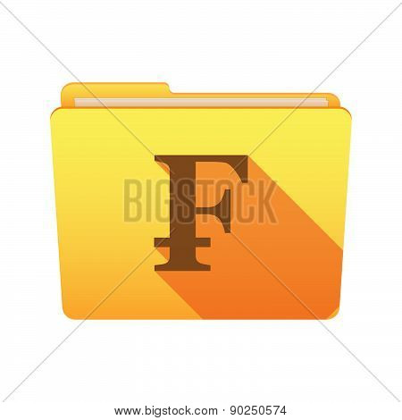 Folder Icon With A Swiss Frank Sign
