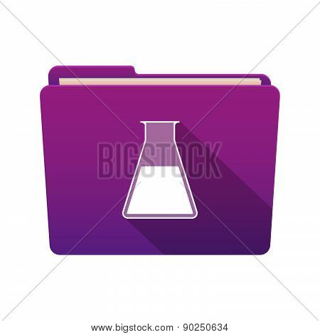 Folder Icon With A Chemical Test Tube