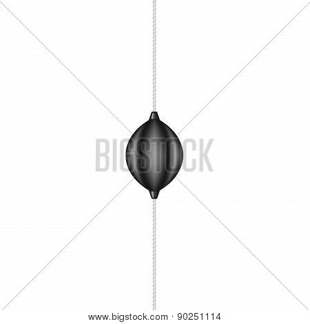 Punching bag holding by elastic rope