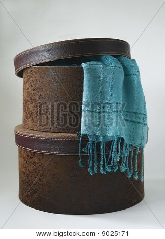 Hatbox with scarf