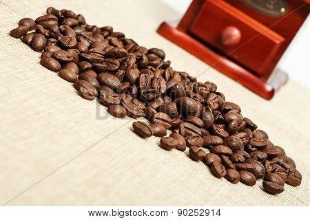Coffee Bean And Coffee Bean Grinder