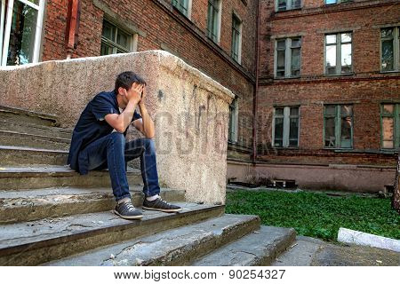 Sad Teenager Outdoor