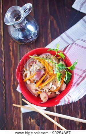Rice Noodles With Meat