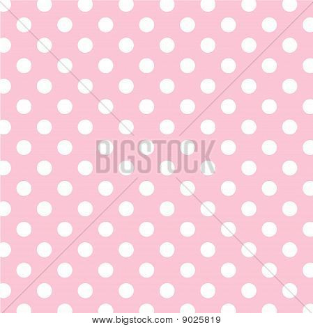 Pastell Rosa, große weiße Polka Dots