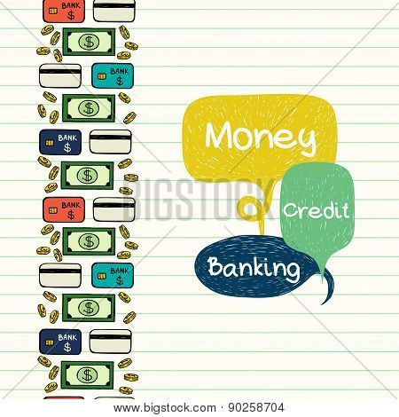 Money Vertical Pattern