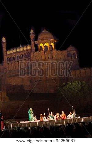 Urdu Poetry In Front Of The Red Fort In Delhi